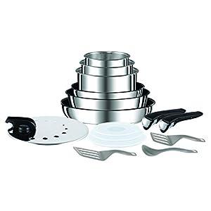 Tefal Ingenio Preference Batterie de cuisine 15 pièces induction, Casseroles non revêtues, Poêles, Couvercles…