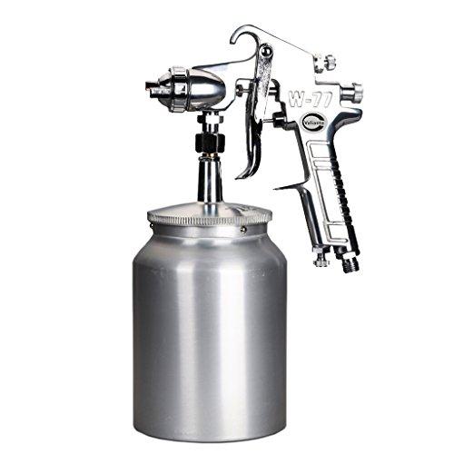 Valianto W77-S HVLP Siphon Feed Spray Gun Silver Nozzle Size 3.5mm