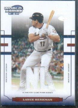2004 Donruss World Series Material Fabric ALSerial #'d/NL #82 Lance Berkman Game-Worn Jersey Card Serial #'d/250