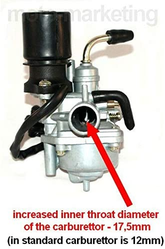 Unbranded NEW CARB CARBURETOR 17.5mm E-CHOKE compatible with TGB ERGON LASER METEORIT AIR AC 50 2STROK