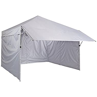 AmazonBasics Pop-Up Canopy Tent with Sidewalls, 10 x 10 ft