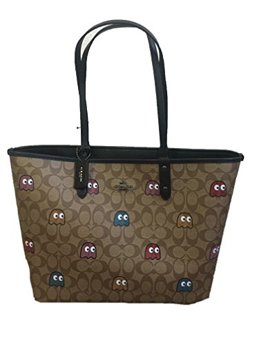 COACH PAC-MAN SIGNATURE TOTE & MAKE UP BAG REVERSIBLE Coach Makeup Pouch