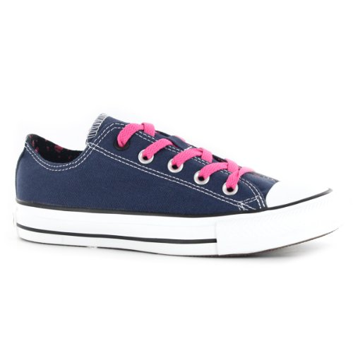Convers Chuck Taylor All Star Doble Lengüeta Low-top Mujeres Sneakers Azul Marino