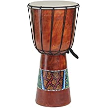 """Djembe Drum Congo Bongo African Percussion Drum- Professional Sound, LARGE 16"""" X 7"""""""
