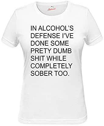 In Alcohol's Defense Funny Slogan Womens T-shirt XX-Large