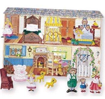Little Folk Visuals Goldilocks & the Three Bears Precut Flannel/Felt Board Figures, 10 Pieces Set