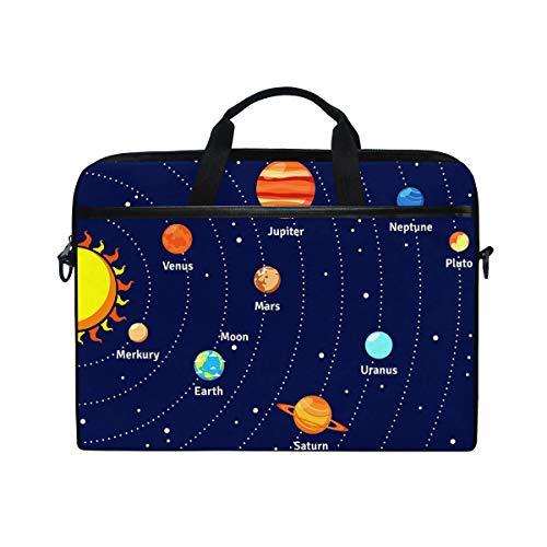 Laptop Bag For Men Women Canvas Shoulder Messenger Bag With Solar System With Orbits Planets Fits 15 15 4 Inch