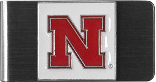 University of Nebraska Huskers stainless steel logo design Money Clip/Card Holder free shipping Nebraska Huskers Stainless Steel