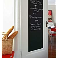 Nourish (45X200 cm) Black Board Wall Sticker Removable Decal Chalkboard with 6 Free Chalks for Home School Office College Room Kitchen