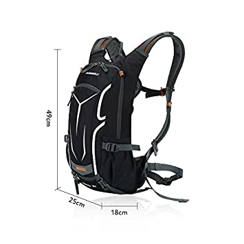 Lixada Cycling Backpack, 18L Bicycle Backpack Waterproof Breathable with Rain Cover for Outdoor Travel Hiking Climbing 2L Hydration Bladder Optional