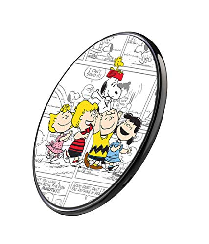 CelfiDesign Official Merchandise of Peanuts Characters Fast Charge Ultra Slim Qi Wireless Charger for Qi Enabled Devices (Multicolor)]()