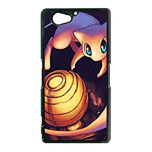 Elegant Pretty Pokemon Mew Phone Case Cover for Sony Xperia Z2 Compact / Z2 Mini Mew Cute Anime