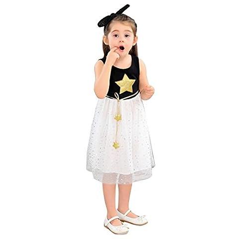 JET-BOND Dress for Girl BB06 Midi Pleated Star Princess Jumpsuit (4, Black) (Jet Midi)