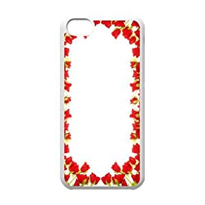 wugdiy DIY Case Cover for iPhone 5C with Customized Happy flowers