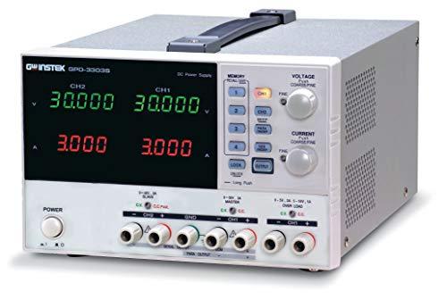 Instek GPD-3303S 195W Triple-Output Programmable Linear DC Power Supply, 30V DC, 3 Amp, 1mV, 1-milliamp Resolution