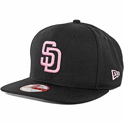New Era SD San Diego Padres Custom Snapback Hat (Black/Pink) 9Fifty Cap