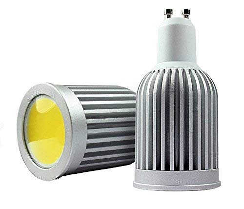 Bombillas LED COB de 10 W GU10, 3000 K, luz blanca cálida, superbrillante