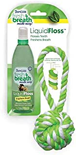product image for Tropiclean Fresh Breath Plaque Remover Pet LiquidFloss & TriFloss Ball, Large