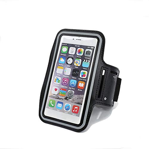 Water Resistant Cellphone Armband with Key Holder Compatible X/8/8 plus/7/7 plus/6plus/6s, Running Sports Armband Compatible with Samsung, Huawei, Moto, Google up to 5.5 inch (Black) from CUCIUS