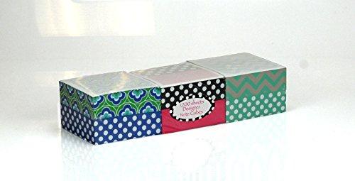 Designer Adhesive Note Cubes 1,200 -