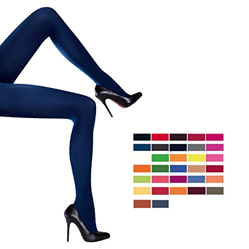 Ergora Damen Strumpfhose 60 Den Micro Fashion blickdicht in Taupe-Braun Gr. 38/40