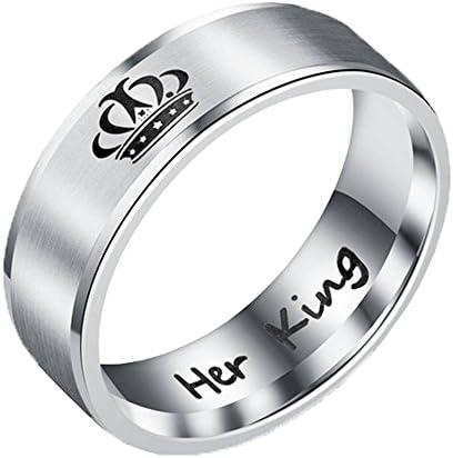 ステンレス 指輪 レディース メンズ アクセサリー リング シンプル 幅6mm 銀色 her King 米国11号
