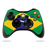 Protective Vinyl Skin Decal Cover for Microsoft Xbox 360 Controller wrap sticker skins Brazilian Flag Review