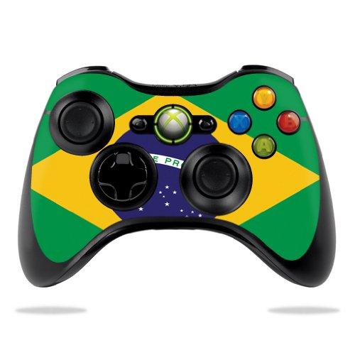 Protective Vinyl Skin Decal Cover for Microsoft Xbox 360 Controller wrap sticker skins Brazilian Flag