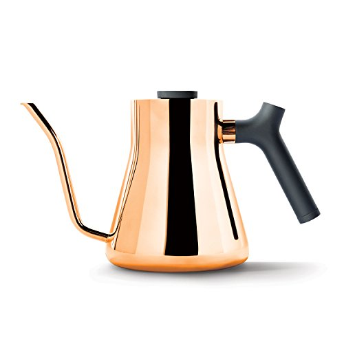 Fellow Stagg Stovetop Pour-Over Kettle For Coffee and Tea, 1.0L, Gooseneck Precision Pour Spout, Built-In Brew Range Thermometer, Counterbalanced Handle (Copper)