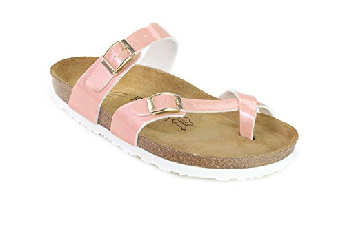 Cork JOYCE Slippers JOE Milano Women Softbedded Rose Sandals N q45WBAvt