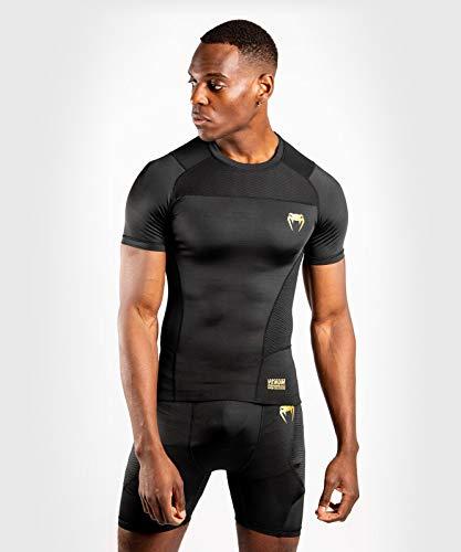 Venum G-Fit Rashguard – Short Sleeves – Black/Gold