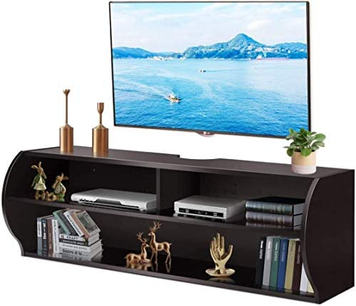 Tangkula Wall Mounted TV Stand