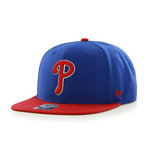 '47 MLB Philadelphia Phillies Sure Shot Two Tone Captain Adjustable Snapback Hat, One Size, Royal