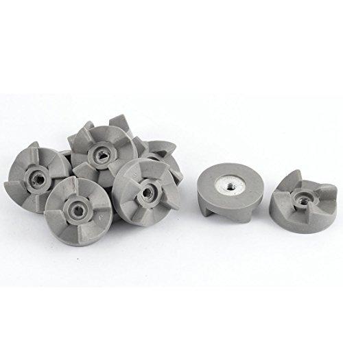 DealMux 4 Zähne Gummikupplung Kupplungsgetriebe Grau 30mm Durchmesser 10pcs für Blender