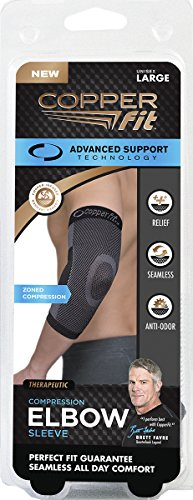 Copper Fit Unisex Advanced Support Elbow Sleeve, Large by Copper Fit (Image #1)