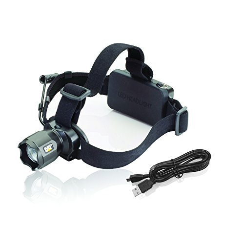Cat CT4205  380 Lumen Rechargeable CREE LED Focusing Headlamp with Adjustable Angle Head (Black)