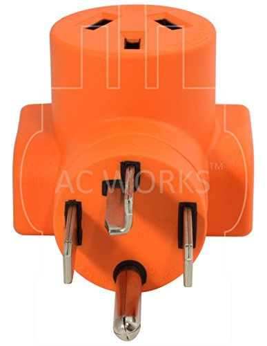 AC WORKS [WD14301050] 30Amp 4-Prong 14-30P Dryer Plug to 10-50R 50Amp 125/250V Welder adapter by AC WORKS (Image #2)
