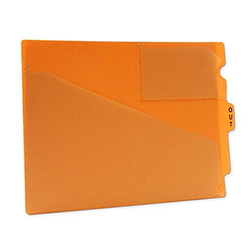 PDC Healthcare FC178OR Outguide, Center Tab, Letter Size, 2 Pockets, Vinyl, 12 7/8'' x 9 1/2'', Orange (Pack of 25) by PDC Healthcare (Image #1)