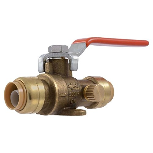 - SharkBite 1/2-in Push-to-Connect x 1/2-in Push-to-Connect Ball Valve Push Fitting