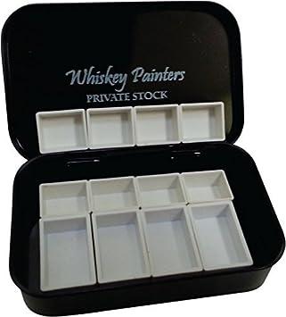 Whisky pintores vacío, repuesto, mitad sartenes con imanes - Ideal para personalizar tu propia paleta (12 piezas): Amazon.es: Juguetes y juegos