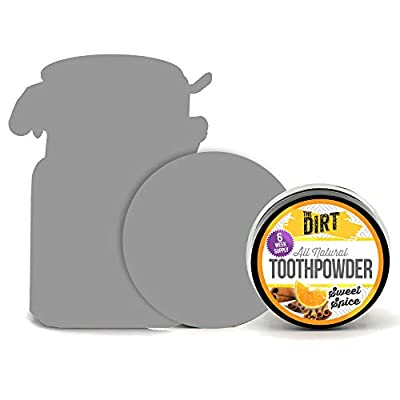 The Dirt All Natural Tooth Powders (Sweet Spice, Six Week Supply 10g)