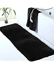 Walensee Bathroom Rug Non Slip Bath Mat for Bathroom Water Absorbent Soft Microfiber Shaggy Bathroom Mat Machine Washable Bath Rug for Bathroom Thick Plush Rugs for Shower