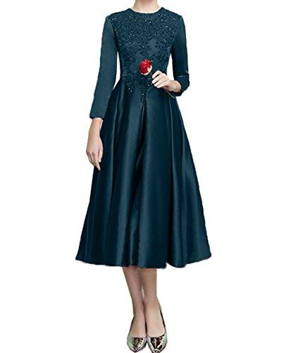 Abendkleider Festlichkleider Formalkleider Ballkleider Partykleider Blau Charmant Knielang 2 Dunkel Abschlussballkleider Damen 6qwEOT7xg