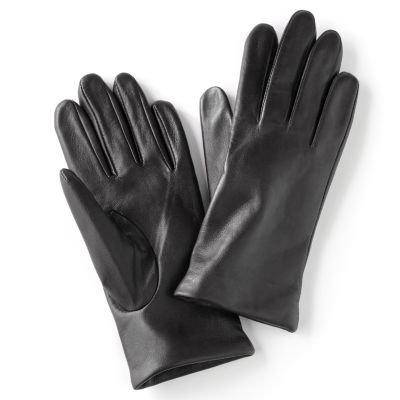 Apt. 9 Black Premium Leather Gloves for Women - Size L