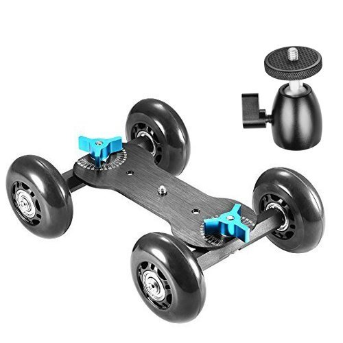 Neewer Table Mobile Rolling Slider Dolly Car Skater Video Tr