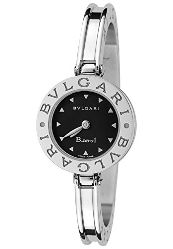Bulgari Women's B.zero1 Black Dial Stainless Steel Bangle
