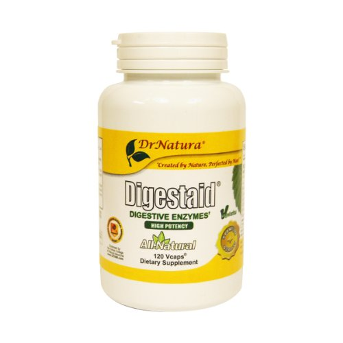 DrNatura Digestaid Digestive Enzyme Supplement  120-Vcaps Bottle