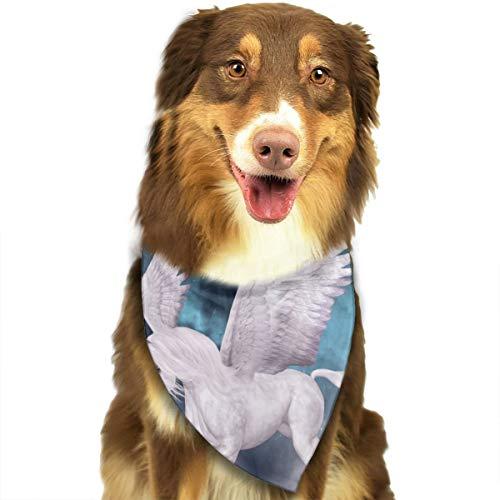 Wonderful Pegasus Gallops Over The Clouds Fashion Dog Bandana Pet Accessories Easy Wash Scarf