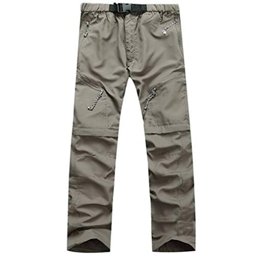 (SHMOjiany Detachable Hiking Pants Men Summer Quick Dry Trousers Men's Camping/Trekking/Outdoor Sport Waterproof Pants Shorts Khaki Asian Size M)