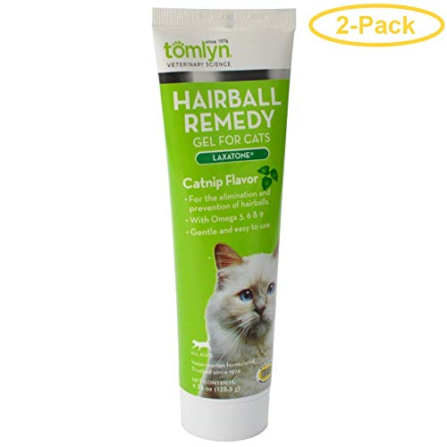 Tomlyn Laxatone Hairball Remedy Gel for Cats - Catnip Flavor (2 Pack) (Laxatone Tomlyn Hairball Remedy)